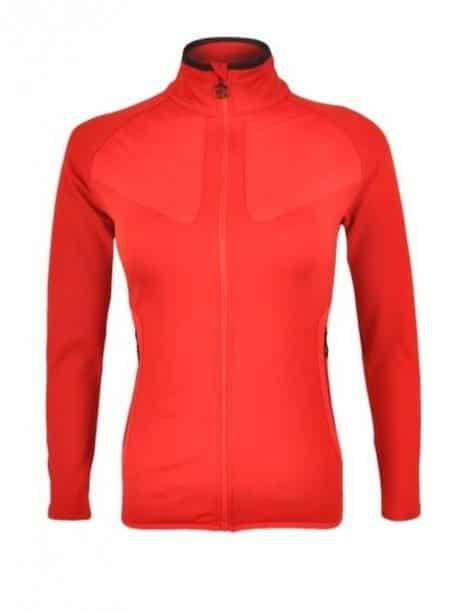 Bluza polarowa damska czerwona Silvini Cerrete