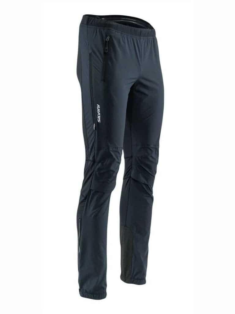 Męskie spodnie na narty biegowe, bieganie, skituring Silvini Soracte czarne MP1144