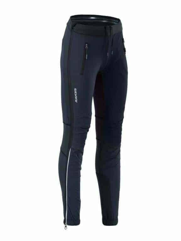 Spodnie damskie na narty biegowe Silvini Soracte Pro - nowawki rozpinane na całej długości