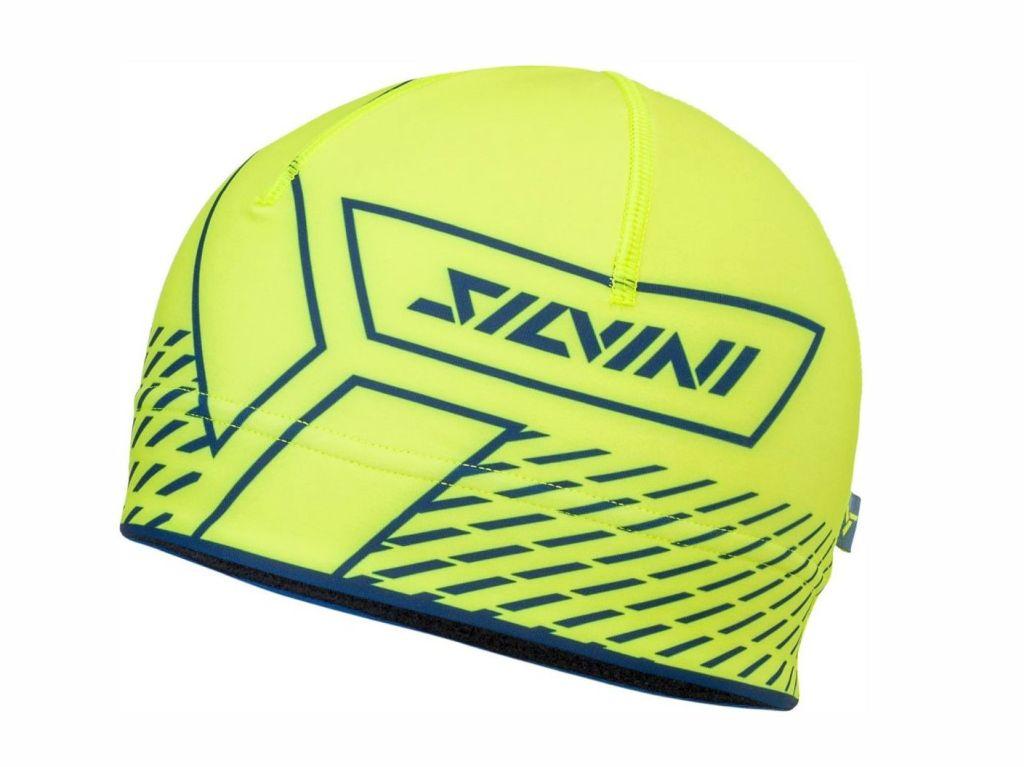Sportowa elastyczna czapka zaprojektowana do aktywnego ruchu Silvini Pala UA1521-4232 kol. limon