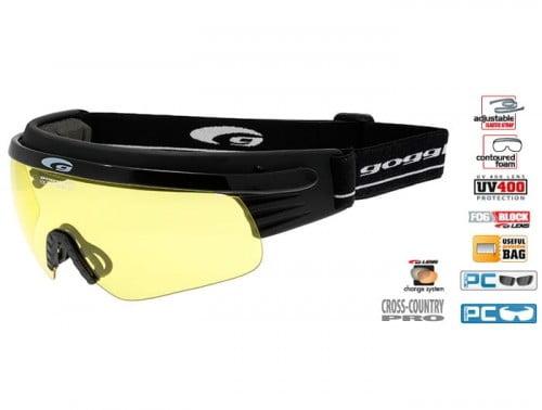 Okulary na narty biegowe Goggle T324-3, soczewka żólta kat. 0 na pochmurny dzień. Prod USA
