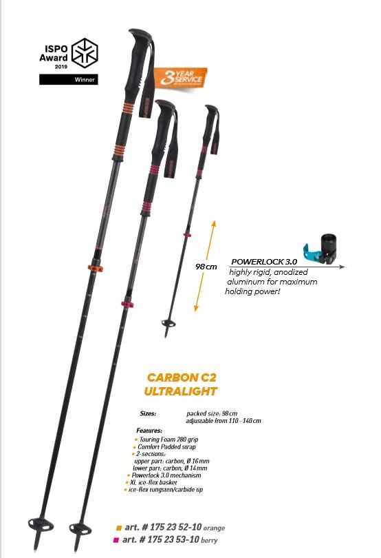 Kije skiturowe Carbon C2 Ultralight