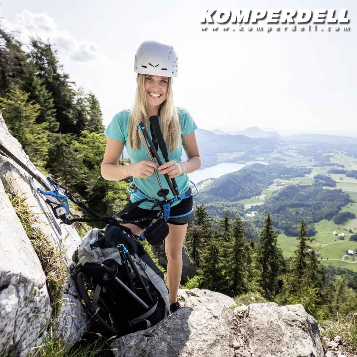 Kije do biegania w górach Carbon 1942351-10 KOMPERDELL